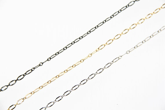 Brass Wave Oval Chain 3x6 mm