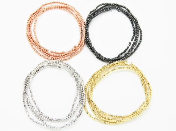 "330 Pieces Brass 3mm Round beads 32"" Length Strand"