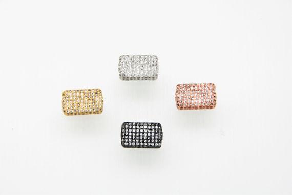 CZ Micro Pave 6x11x17mm  Cuboid  Beads