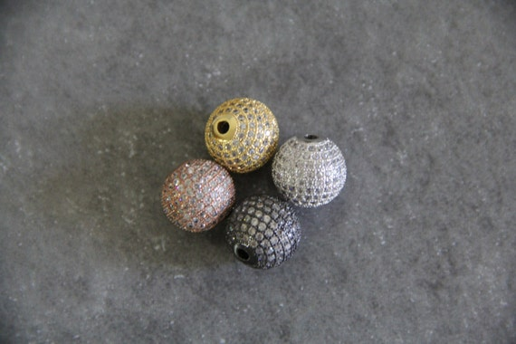 CZ Micro Pave 14mm Round beads