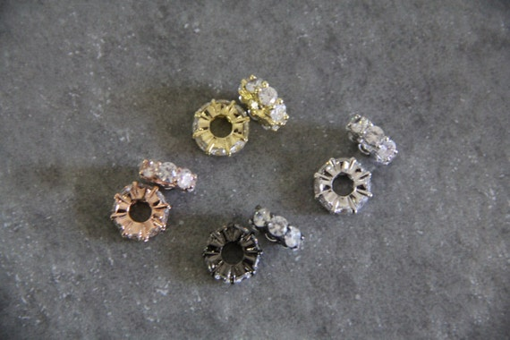 CZ Micro Pave 4x12mm Spacer  Beads