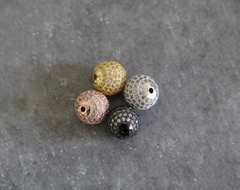 CZ Micro Pave 12 mm Runde Perlen