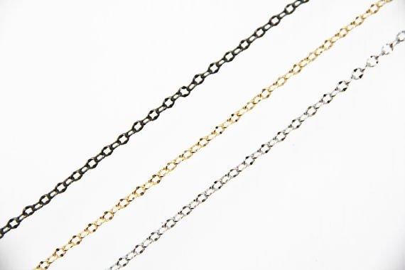 Brass Wave Circle Chain 4mm