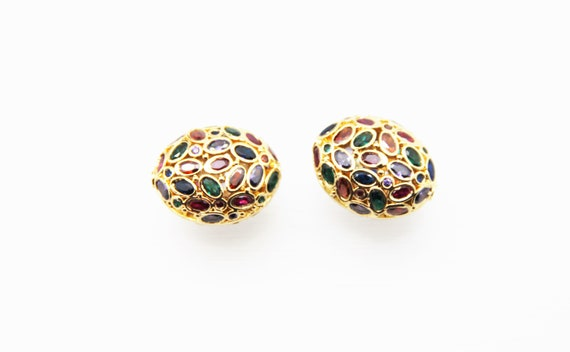 Mix Color CZ Micro Pave 20x26mm  Free Form  Oval Beads