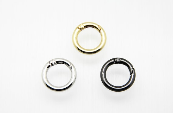 Plain Brass 25mm Circle Spring Clasp