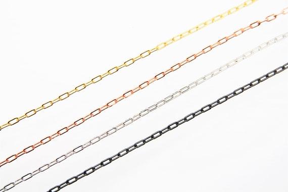Brass Paper Clip Chain 4x7mm