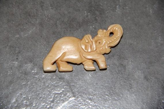 One Piece Buffalo Bone Carved Elephant