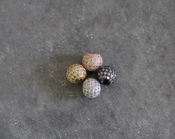 CZ Micro Pave 10 mm Perlen