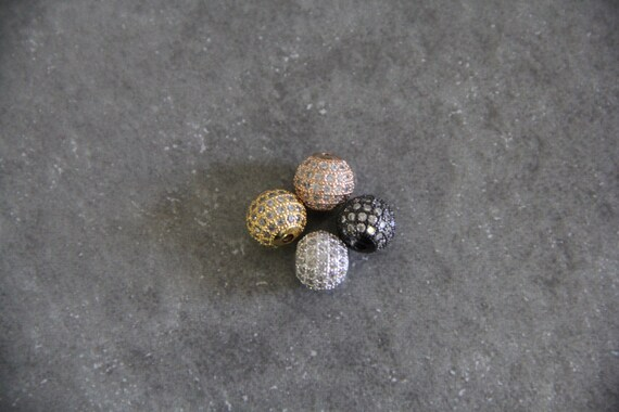 CZ Micro Pave 10mm Round beads