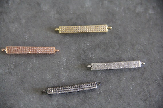CZ Micro Pave 5x42mm Bar Connectors