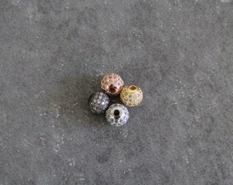 CZ Micro Pave 8 mm Runde Perlen