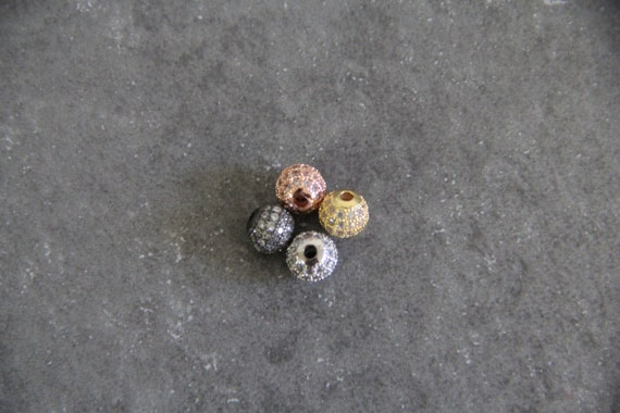 CZ Micro Pave 8mm Round beads