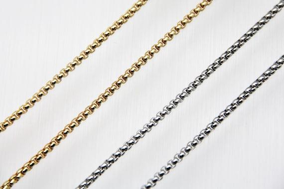 Enamel Brass 3mm Box Chain