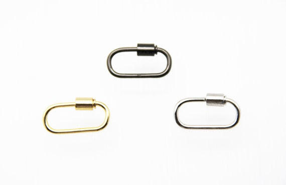 Plain Brass 13x26mm Oval Screw Clasp Carabiner