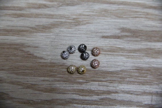 CZ Micro Pave 4mm Round beads