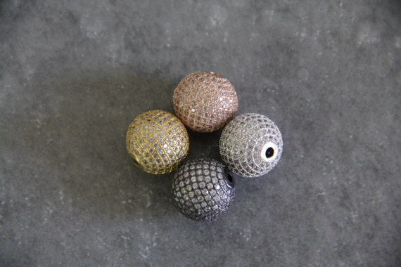 CZ Micro Pave 16mm Round beads
