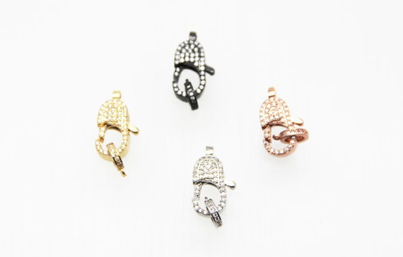 CZ Micro Pave 8x17mm Lobster Clasp