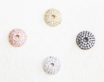 CZ Micro Pave 10mm Runde Kappe