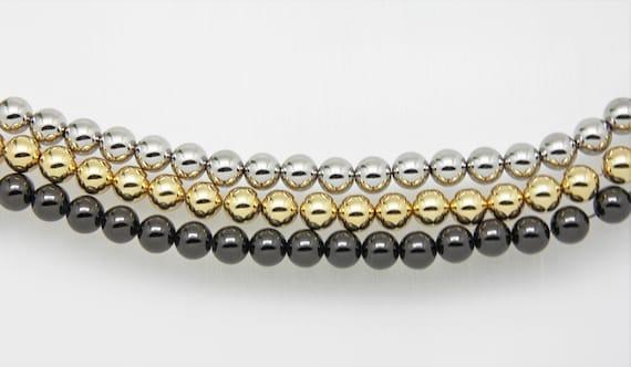 "90 Pieces Brass 10mm Round beads 32"" Length Strand"