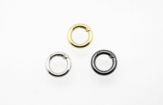 Plain Brass 20mm Circle Spring Clasp