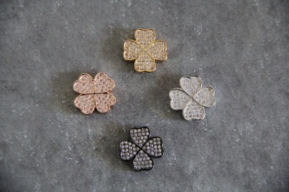 CZ Micro Pave 15mm Celtic Beads