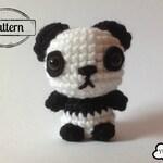 Crochet doll Pattern: Panda Amigurumi, Crochet Animal amigurumi, Crochet Patterns