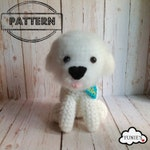 Crochet dog pattern : Bichon Frise