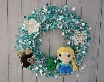 Christmas Wreath, Christmas Decoration, Xmas Wreath amigurumi