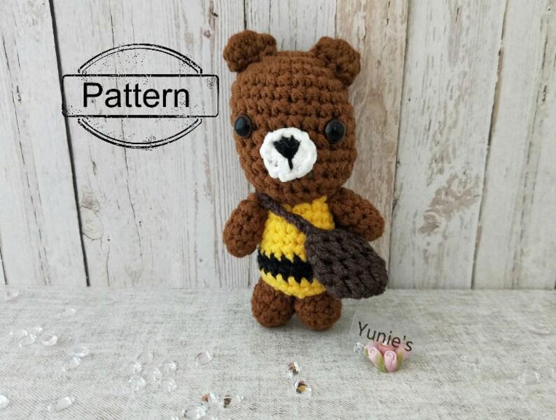 Crochet amigurumi pattern crochet doll pattern: Bear with image 0