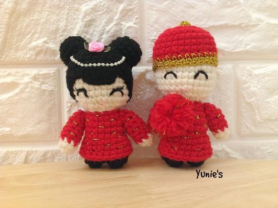 Fiber Art Craft: Bride Groom Wedding Dolls Amigurumi Crochet ... | 426x570
