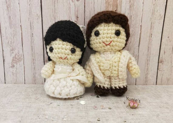 Crochet Cats Amigurumi, Valentines Gift, Cats Wedding Couple ... | 406x570