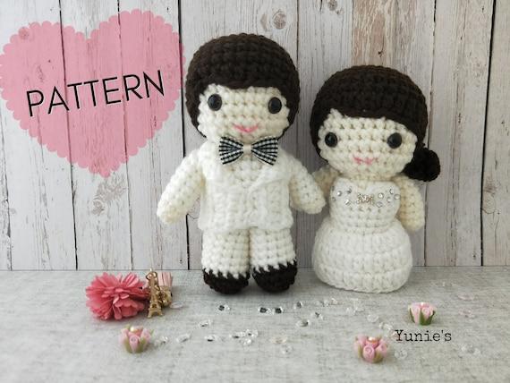 Wedding Doll Crochet Pattern Wedding Amigurumi Couple Doll Etsy