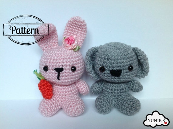 Crochet Amigurumi Pattern Crochet Amigurumi Koala And Bunny Etsy