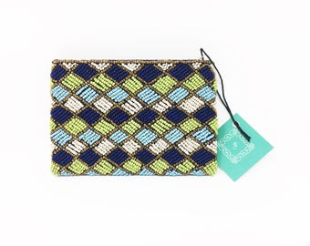 Beaded wallet and coin purse,Beaded Wallet, Evening Cosmetic, Travel Purse