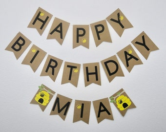 Bee Theme Birthday Banner, Happy Beeday, Beeday Banner, Bee Theme Birthday, Bee First Birthday, Bee Birthday Decor, Bee Party Decor