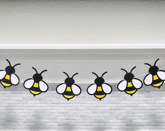 Bee Garland, Beeday Banner, Beeday Theme, Beeday Baby Shower, Beeday Gender Reveal, Happy Beeday, Beeday Garland, Bee First Birthday
