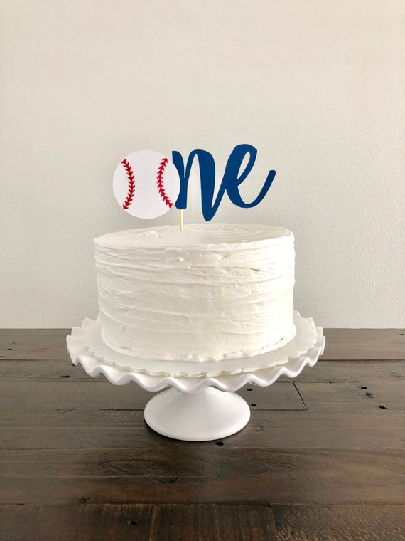 Baseball Theme Cake Topper First Birthday