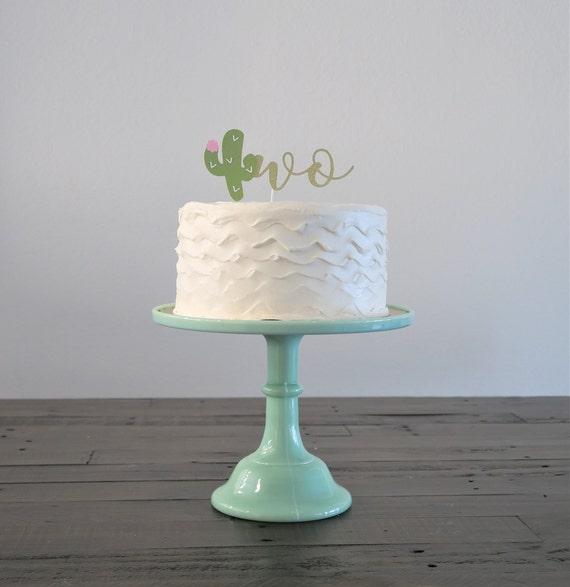 Cactus Birthday Cake Topper Taco Tuesday Fiesta Theme Etsy