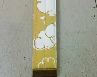cloud key chain, cloud key fob, unique valentine gift, fabric key chain, fabric key fob, wristlet