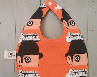 A Clockwork Orange - Baby Bib - Milk - Adjustable baby bib- Unique baby shower gift - Punk baby - Punk baby shower gift