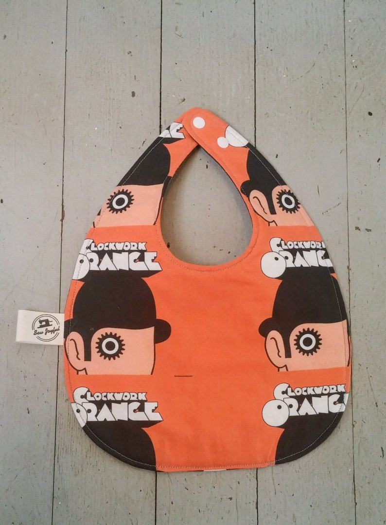 A Clockwork Orange  Baby Bib  Milk  Adjustable baby bib image 0