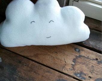 Happy cloud plushie, stuffie, stuffed cloud, plush cloud