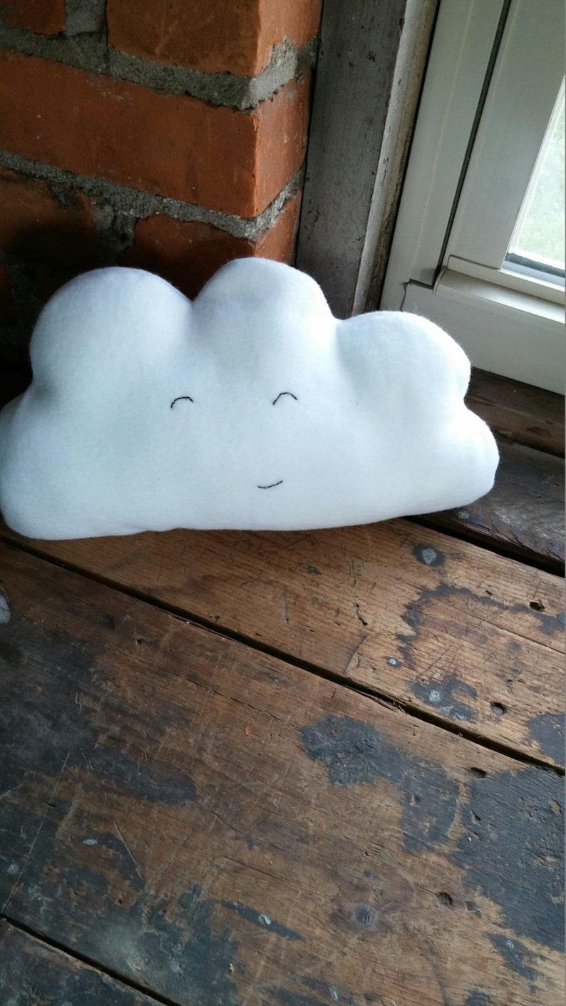 Happy cloud plushie stuffie stuffed cloud plush cloud image 0