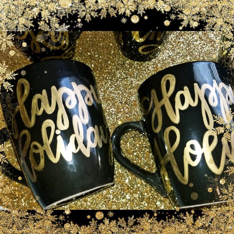 Custom Calligraphy Coffee Mug Ceramic Black or White Coffee image 2