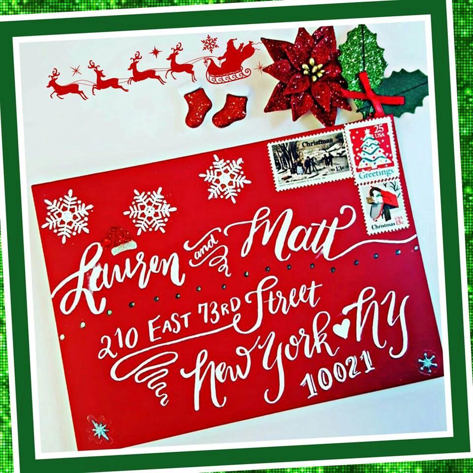 Creative Fun and Festive Christmas Calligraphy Envelope   Etsy