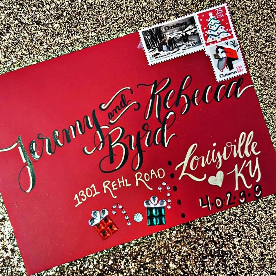 Fun and Festive Christmas Calligraphy Envelope Addressing   Etsy