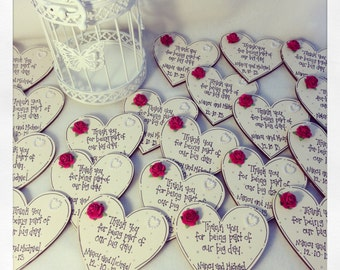 Personalised Wedding Favour Magnets