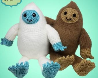 PDF Instant Download Crochet Bigfoot and Yeti Plush Pattern, Plush Toy, Yeti and Bigfoot Stuffed Animal, Sasquatch