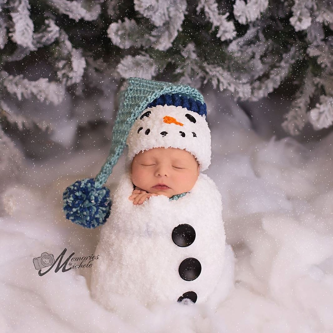 Pattern Crochet Newborn Snowman Hat Scarf And Cocoon Set Etsy