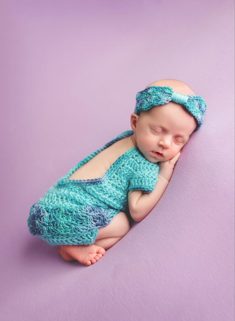 083873e3d8f Pattern Crochet Newborn Baby Girl Outfit with Romper Bonnet